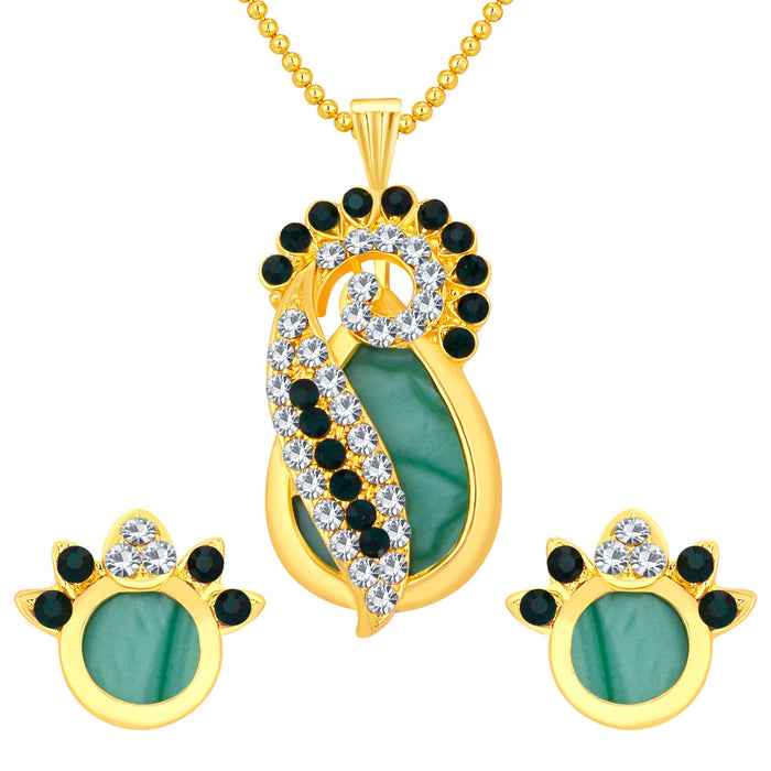 Sukkhi Ravishing Gold Plated Ad Pendant Set For Women