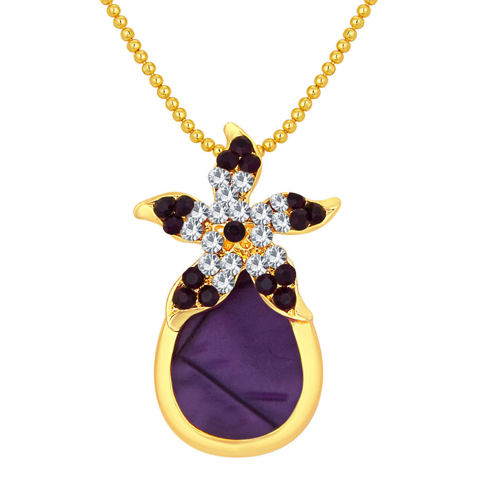 Sukkhi Creative Gold Plated AD Pendant Set For Women-1