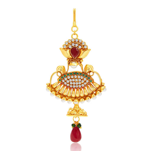 Sukkhi Wavy Gold Plated Passa For Women