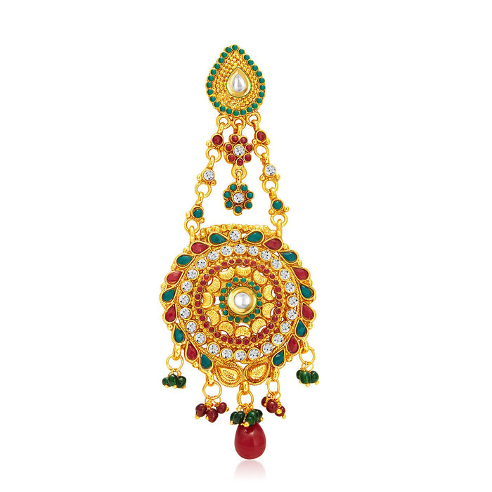 Sukkhi Glorious Gold Plated Passa For Women