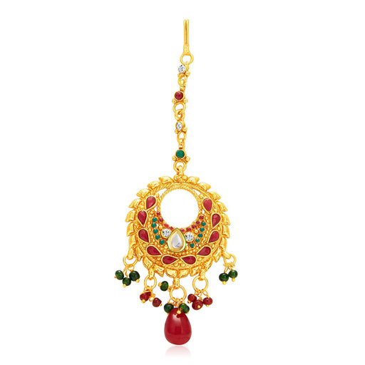 Sukkhi Marquise Gold Plated Passa For Women