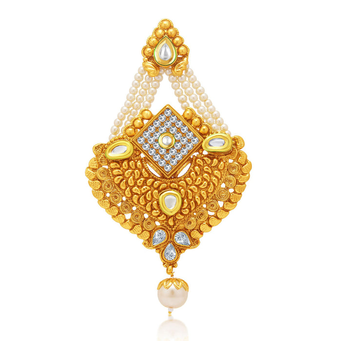 Sukkhi Graceful Gold Plated AD Passa For Women
