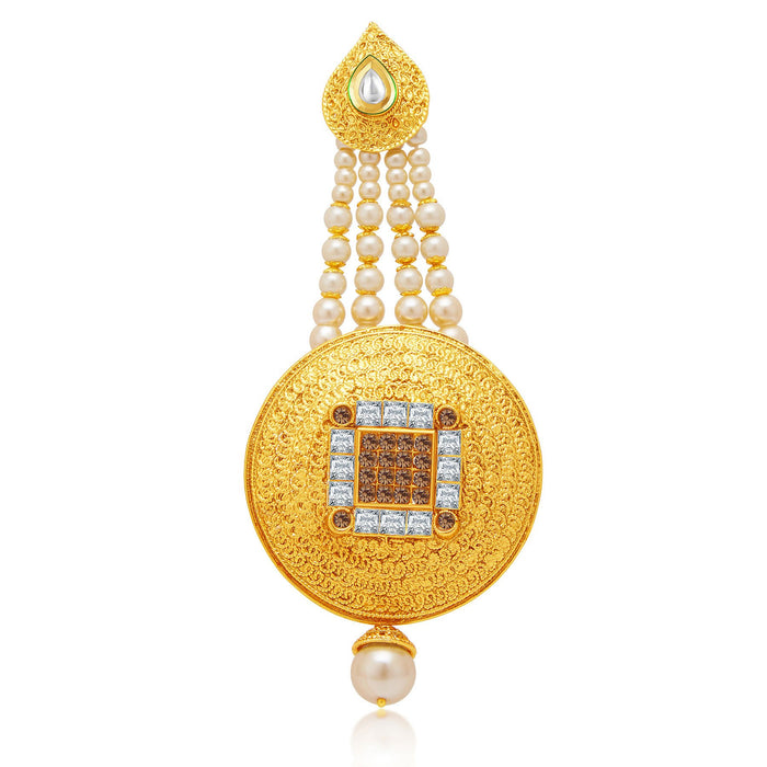 Sukkhi Delightful Gold Plated AD Passa For Women