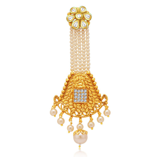 Sukkhi Artistically Gold Plated AD Passa For Women