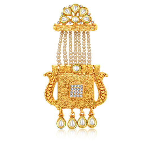 Sukkhi Ritzy Gold Plated AD Passa For Women