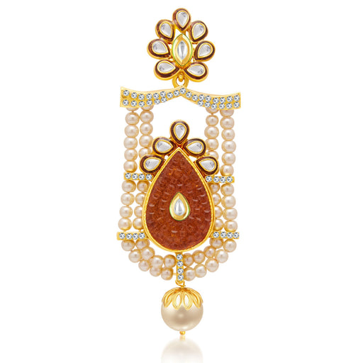 Sukkhi Brilliant Gold Plated AD Passa For Women