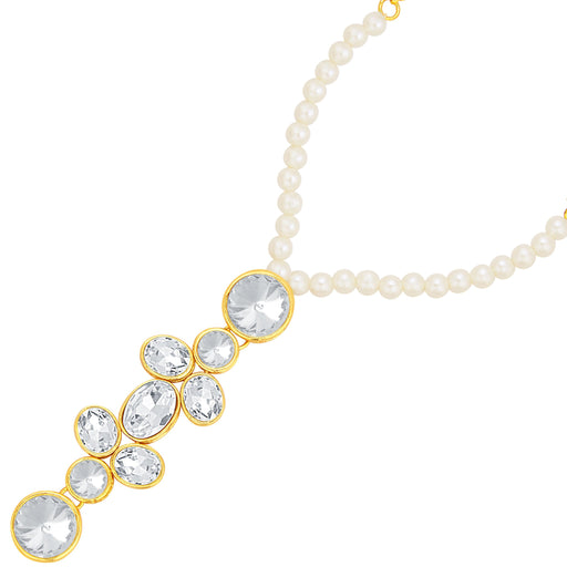 Sukkhi Sparkling Gold Plated American Diamond Hathphool For Women