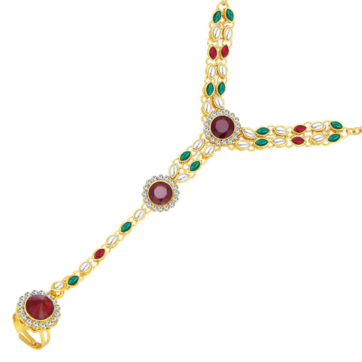 Sukkhi Royal Gold Plated AD Hathphool For Women