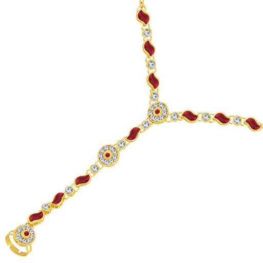 Sukkhi Exquisite Gold Plated AD Hathphool For Women
