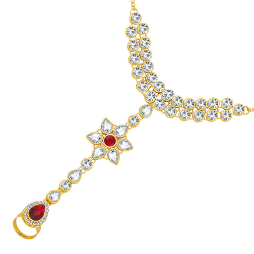 Sukkhi Finely Gold Plated AD Hathphool For Women
