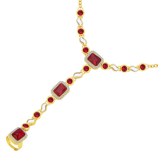 Sukkhi Divine Gold Plated AD Hathphool For Women