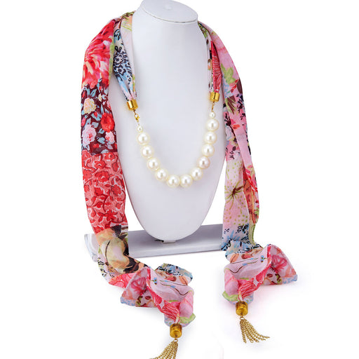 Sukkhi Enchanting Chiffon Detachable Scarf Necklace With Chain For Women