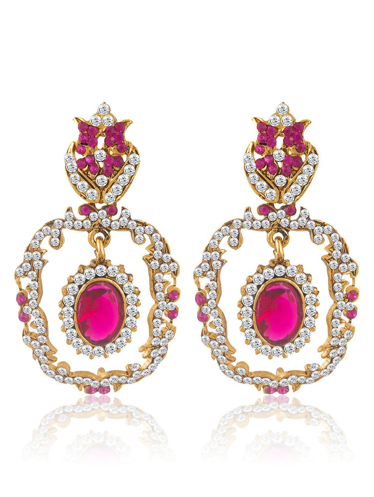 Sukkhi Creative Gold Plated AD Earring For Women