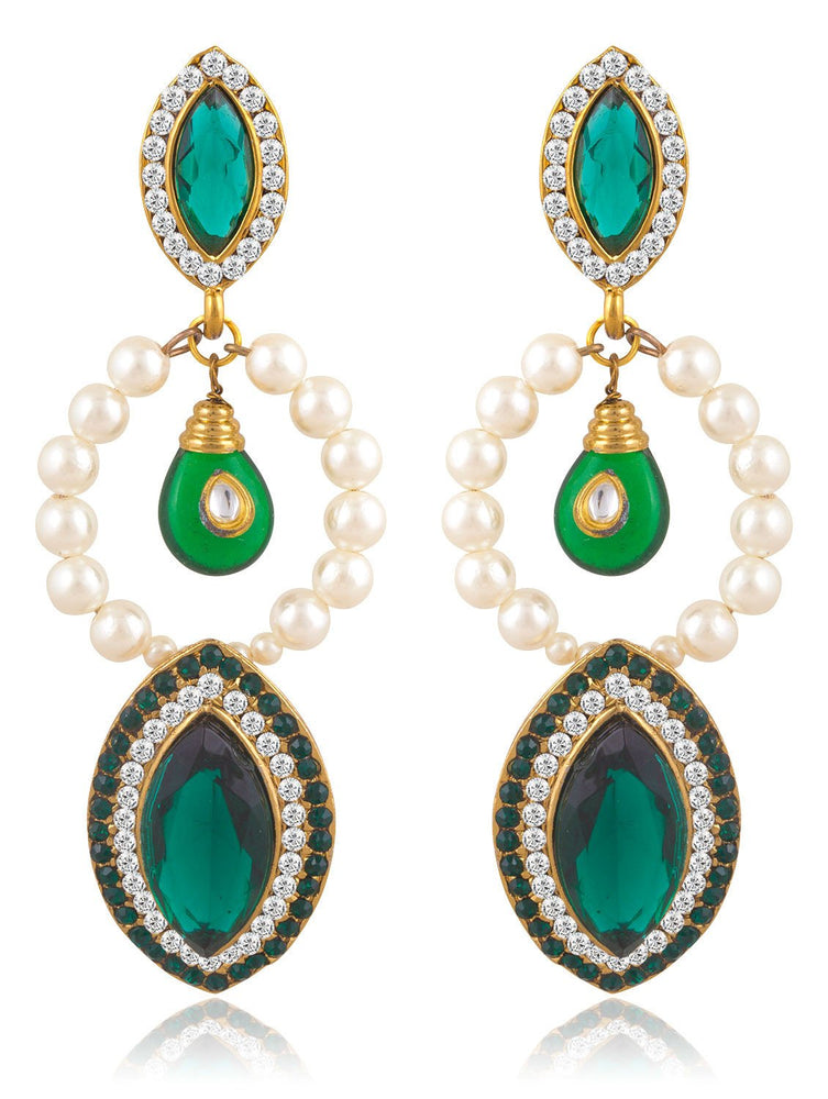 Sukkhi Brilliant Gold Plated Pearl Earring For Women