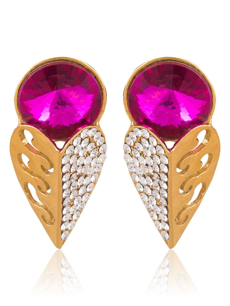 Sukkhi Enchanting Gold Plated AD Earring For Women