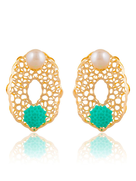 Sukkhi Alluring Gold Plated Stud Earring For Women
