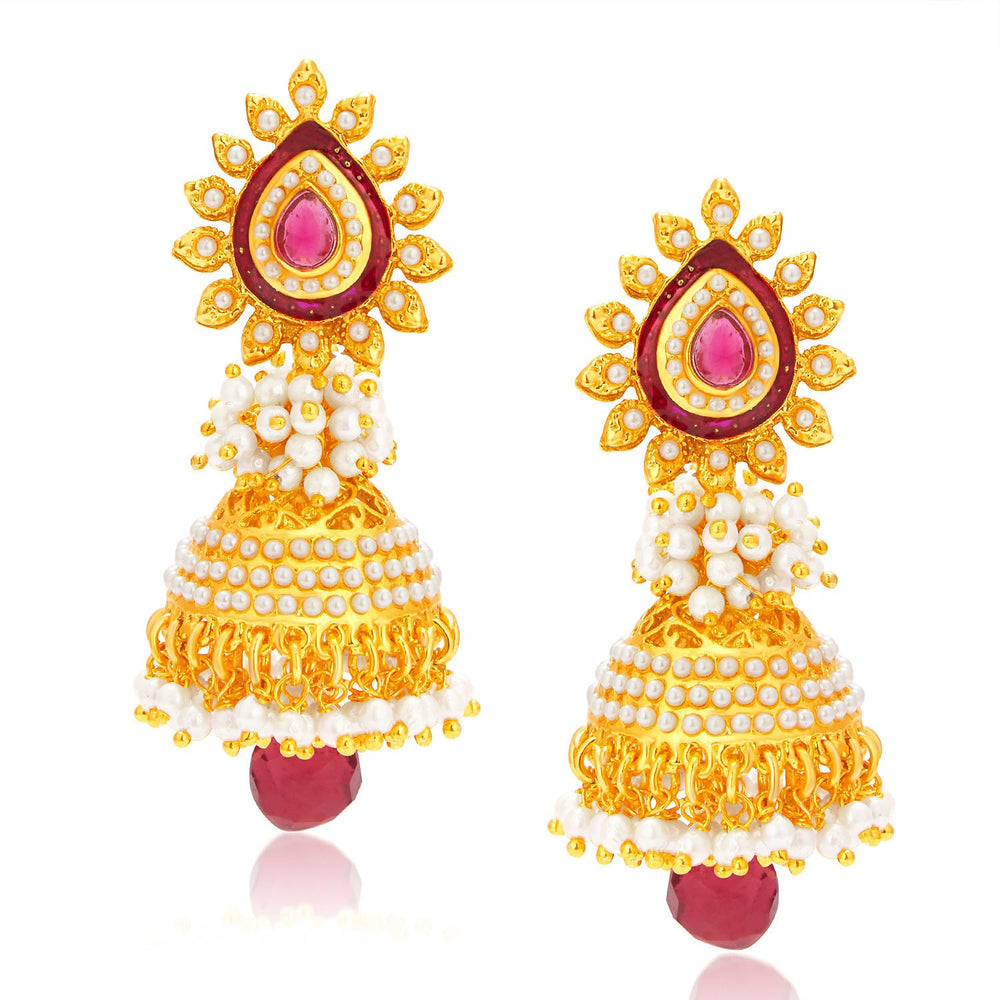 Sukkhi Elegant Gold Plated Jhumki Earring For Women