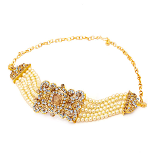 Sukkhi Amazing Gold Plated AD Bajuband For Women