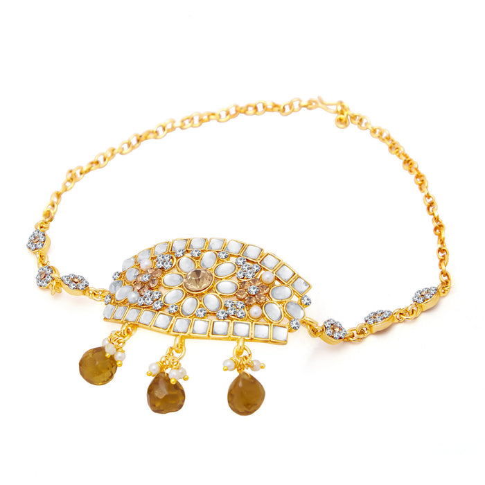 Sukkhi Dazzling Gold Plated Kundan Bajuband For Women