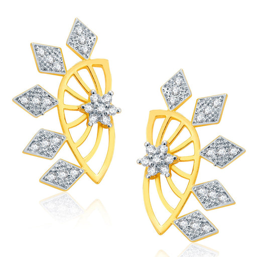 Pissara Opulent Gold And Rhodium Plated CZ Earcuff For Women