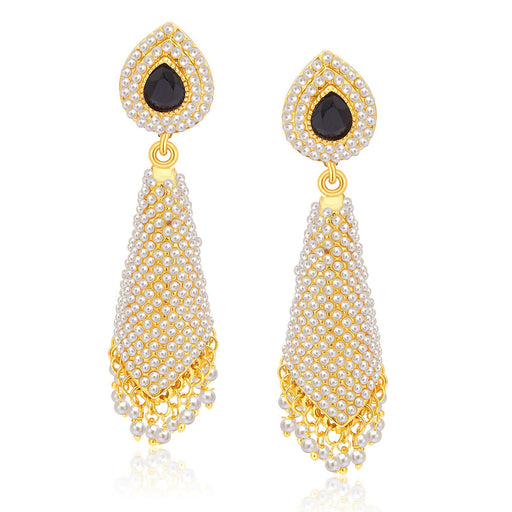 Sukkhi Glamorous Gold Plated Pearl Earring For Women