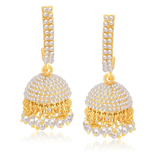 Sukkhi Angelic Gold Plated Pearl Jhumki For Women
