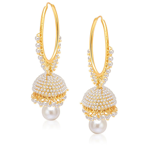 Sukkhi Gorgeous Gold Plated Pearl Jhumki For Women