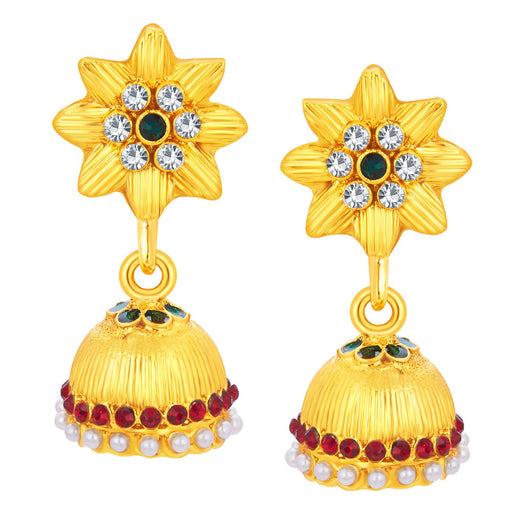 Sukkhi Lavish Jhumki Gold Plated AD Earring For Women
