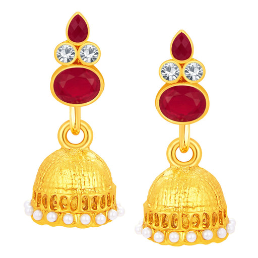 Sukkhi Exotic Jhumki Gold Plated AD Earring For Women