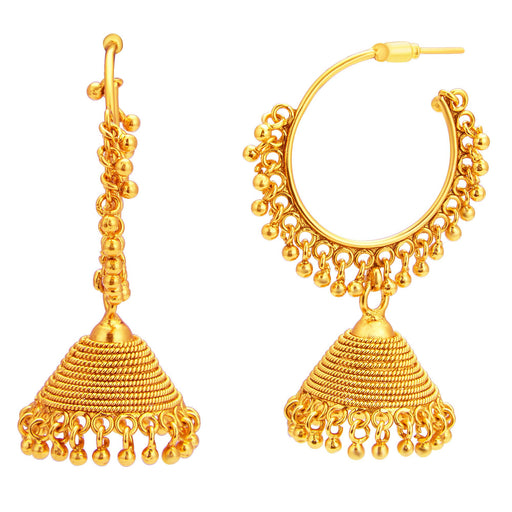 Sukkhi Astonish Jhumki Gold Plated Earring For Women