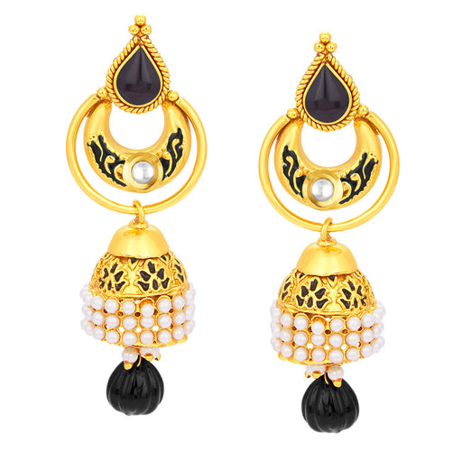 Sukkhi Cluster Jhumki Gold Plated Earring For Women