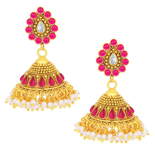 Sukkhi Eye-Catchy Jhumki Gold Plated Earring For Women