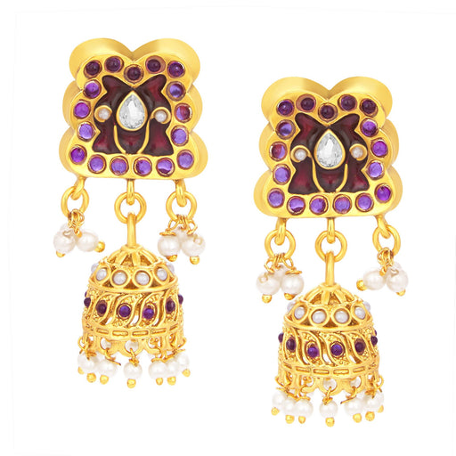 Sukkhi Elegant Jhumki Gold Plated AD Earring For Women