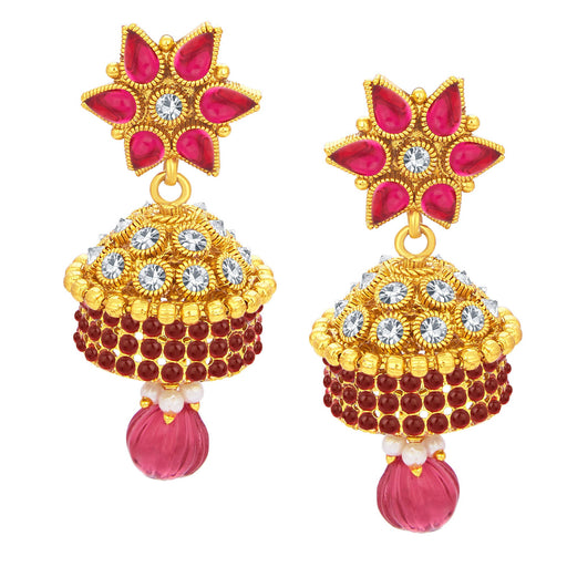 Sukkhi Resplendent Jhumki Gold Plated AD Earring For Women