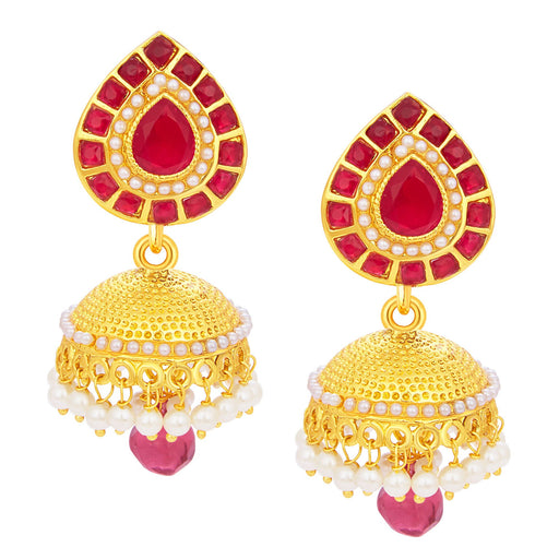 Sukkhi Glamorous Jhumki Gold Plated Earring For Women