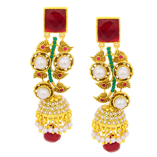 Sukkhi Sparkling Jhumki Gold Plated Earring For Women