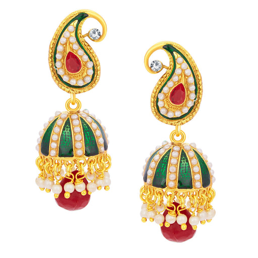 Sukkhi Appealing Jhumki Gold Plated Earring For Women