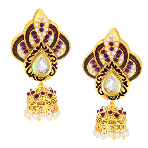 Sukkhi Classy Jhumki Gold Plated AD Earring For Women