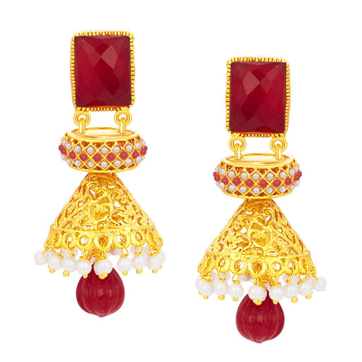 Sukkhi Sublime Jhumki Gold Plated Earring For Women