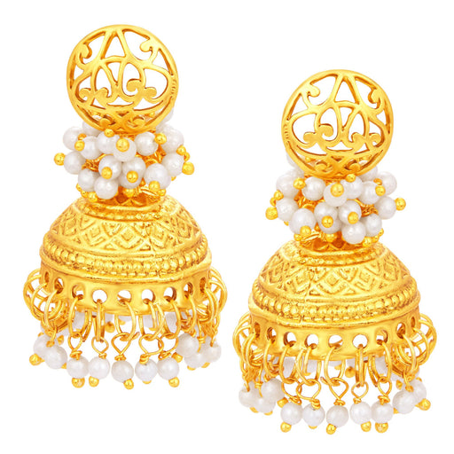 Sukkhi Blossomy Jhumki Gold Plated Earring For Women
