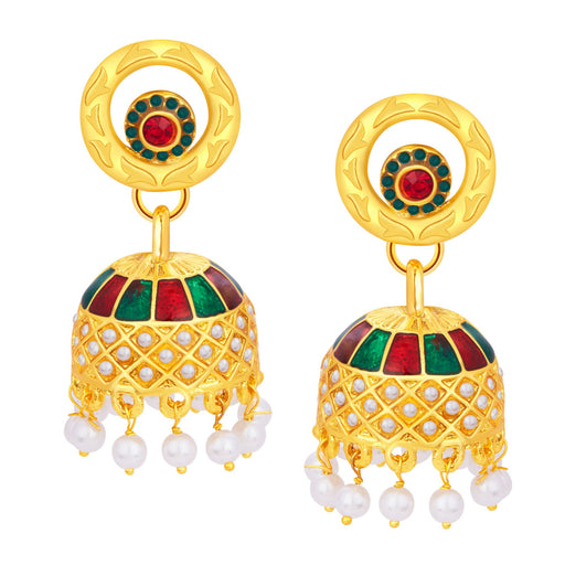 Sukkhi Resplendent Jhumki Gold Plated Earring For Women