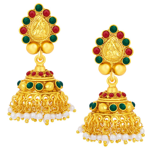 Sukkhi Stunning Laxmiji Temple Jewellery Gold Plated Earring For Women