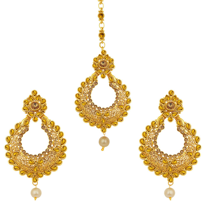 Sukkhi Cluster LCT Stone Gold Plated AD Earring For Women