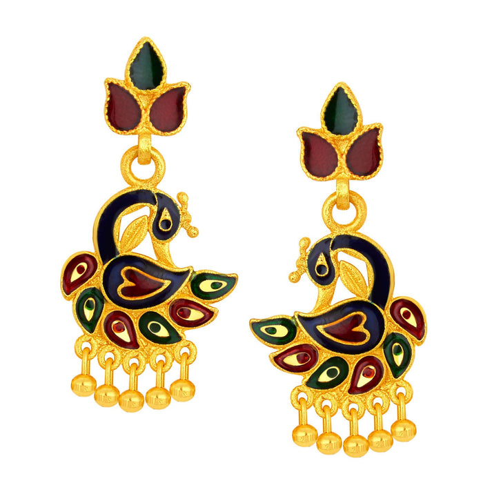 Sukkhi Graceful Peacock Gold Plated Earring For Women