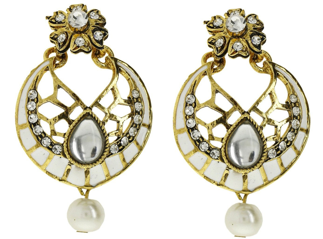 Sukkhi Delightful Gold Plated AD Earring For Women
