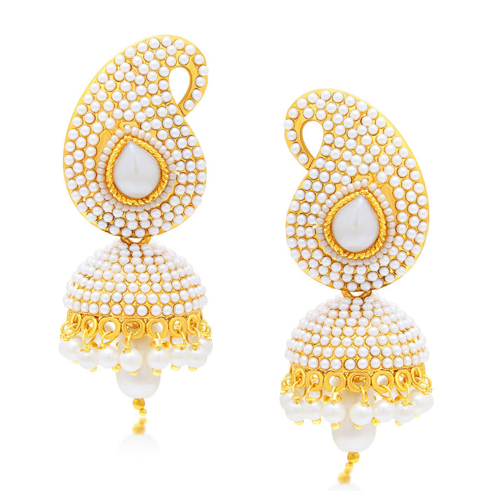 Sukkhi Gleaming Peacock Jhumki Gold Plated Set of 3 Pair Earring Combo For Women-1