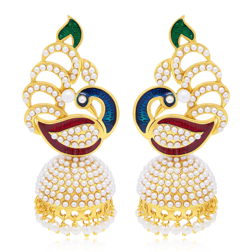 Sukkhi Finely Peacock Jhumki Gold Plated Set of 2 Pair Earring Combo For Women-1