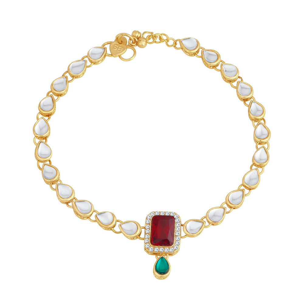 Trushi Astonish Gold Plated Anklet for women