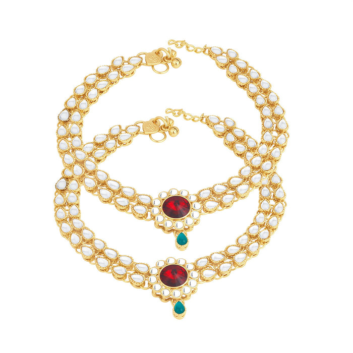 Trushi By Sukkhi Moddish Gold Plated Anklet for women