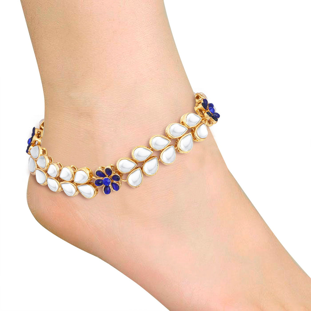 Trushi Traditional Gold Plated Anklet for women